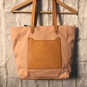 Handbags - Universal Threads Canvas and Vegan Leather Tote